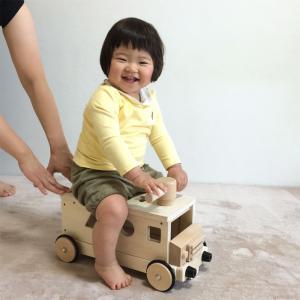 木製 手押し車 乗用玩具 きこりのおもちゃ つみきバス 木のおもちゃ 送料無料|richsmile|03