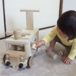 木製 手押し車 乗用玩具 きこりのおもちゃ つみきバス 木のおもちゃ 送料無料|richsmile|05