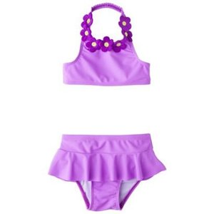 子供 水着 女の子 上下セット ciRco フラワーホルダーネック ビキニ インポート ワンピース セパレート|richsmile