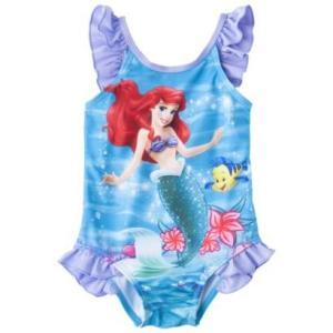 子供 水着 女の子 ワンピース Disney リトルマーメイド アリエル フリル インポート ピンク ディズニー プリンセス ビキニ |richsmile