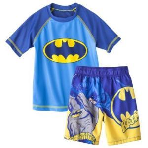 水着 子供 男の子 上下セット バットマン ラッシュ&パンツ ベビー キッズ 水着 スイムウェア インポート BATMAN|richsmile