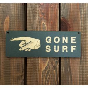 アメリカン雑貨 ヴィンテージ風 MDF 看板 ウッドサイン GONE SURF サーフ|richsmile