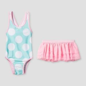 子供 水着 女の子 ワンピース ドット&チュチュ インポート ピンク cat&jack バレリーナ|richsmile