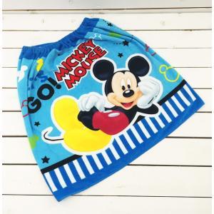 ディズニー ミッキー ラップタオル スナップ付巻きタオル プールタオル 60cm丈  子供用 男の子 Disney スイミング|richsmile