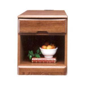 チェスト ナイトテーブル サイドテーブル 幅40cm コンセント付き 木製 完成品|rick-store