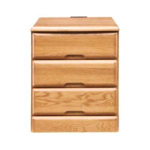 チェスト ナイトテーブル サイドテーブル 幅40cm 3段 コンセント付き 木製 完成品|rick-store