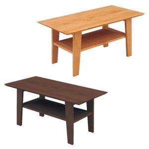 テーブル ローテーブル センターテーブル テーブル幅90 棚付き 長方形 木製 選べる2色 北欧 モダン|rick-store