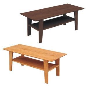 テーブル ローテーブル センターテーブル テーブル幅105 棚付き 長方形 木製 選べる2色 北欧 モダン|rick-store