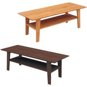 テーブル ローテーブル センターテーブル テーブル幅120 棚付き 長方形 木製 選べる2色 北欧 モダン|rick-store
