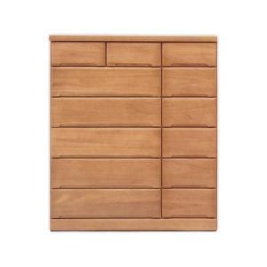 チェスト タンス ハイチェスト 幅120 6段 桐材 天然木 大容量収納 スライドレール付き 箱組 北欧 モダン 大川家具 日本製 完成品|rick-store