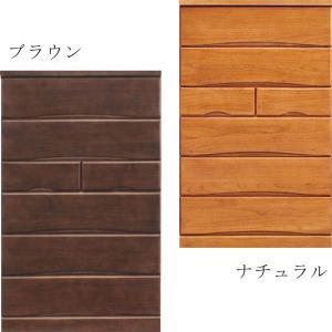 チェスト タンス ハイチェスト 幅80 6段 桐 シンプル 北欧 モダン 選べる2色 大川家具 日本製 完成品|rick-store