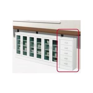 キッチンカウンター カウンター下収納 幅40 省スペース すきま収納 アジャスター付き 引き出し 選べる 2色 日本製 完成品|rick-store
