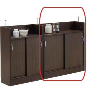 キッチンカウンター カウンター下収納 幅90 奥行25 高さ85 引き戸タイプ 薄型 アジャスター付 選べる 2色 北欧 モダン 日本製 完成品|rick-store