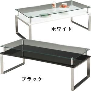 リビングテーブル 座卓 センターテーブル ガラス 幅105cm|rick-store