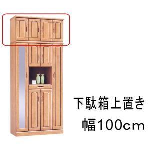 下駄箱 靴箱 シューズボックス 幅100cm 上置き 玄関収納 完成品|rick-store