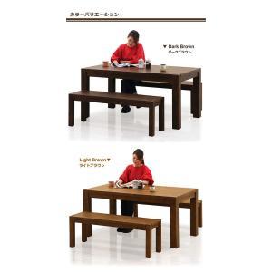 ダイニングテーブルセット 4人掛け 3点 ベンチ 幅150cm 無垢 北欧 モダン 人気 rick-store 02