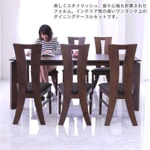 ダイニングテーブルセット 6人掛け 7点 大判 幅180cm 北欧 オーク材 ハイバックチェア 人気 rick-store 06