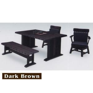 ダイニングテーブルセット ベンチ 4人用 4点 和 和風 モダン 無垢材 天然木 人気|rick-store|02