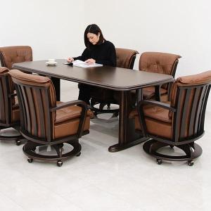 ラバーウッド無垢集成材を使用した北欧モダンテイストのダイニングセットです。ソファみたいな座り心地のダ...