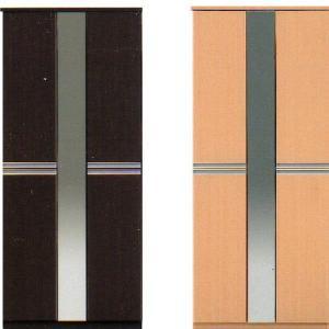 下駄箱 シューズボックス ハイタイプ 大容量 完成品 おしゃれ ミラー付きシューズボックス ナチュラル ダークブラウン|rick-store