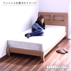 ベッド シングル フレームのみ シングルベッド タモ材 宮付 北欧 モダン|rick-store|05