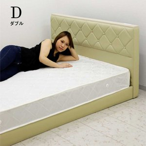 合成皮革 ベッド ダブルベッド マットレス付き 高さ調節 北欧|rick-store