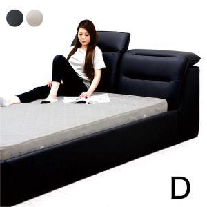 合皮レザー(PVC)のダブルベッドです。ベッド部がリクライニングする高級感のあるベッドです。カラーは...