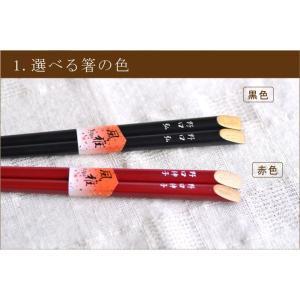 送料無料 名前入り寿箸と布箸袋セット 茶箱あり熨斗なし|ricordo|03