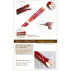 送料無料 名前入り寿箸と布箸袋セット 茶箱あり熨斗なし|ricordo|05