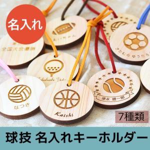 名入れヒノキの球技ネームプレート 7種 7文字まで名前入れ可能 卒業祝いや卒園お祝いに|ricordo
