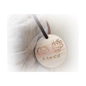 オリジナルイラスト刻印 木のスケッチキーホルダー 子供のイラストをキーホルダーに残す|ricordo|02