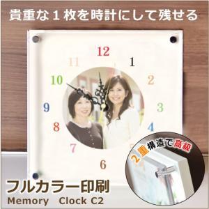 フルカラー印刷 丸い大きな写真入り時計 C-2 写真1枚が入る|ricordo
