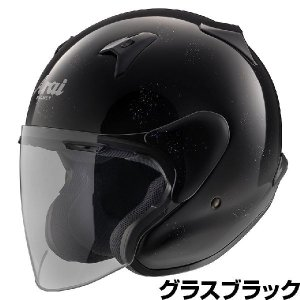 Arai MZ-F ヘルメット【グラスブラック】【アライ バイク用 ジェットヘルメット MZF】【smtb-k】 ridestyle