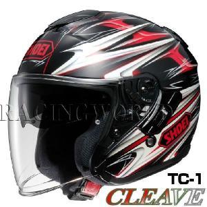 SHOEI J-Cruise ヘルメット CLEAVE【TC-1 レッド×ブラック】【ショウエイ バイク用 ジェットヘルメット ショーエイ Jクルーズ クリーブ】【smtb-k】 ridestyle