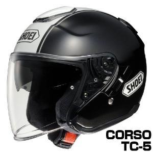 SHOEI J-CRUISE ヘルメット CORSO【TC-5 ブラック×ホワイト】【ショウエイ バイク用 ジェットヘルメット ショーエイ Jクルーズ コルソ】【smtb-k】|ridestyle