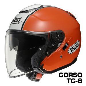 SHOEI J-CRUISE ヘルメット CORSO【TC-8 オレンジ×ホワイト】【ショウエイ バイク用 ジェットヘルメット ショーエイ Jクルーズ コルソ】【smtb-k】|ridestyle