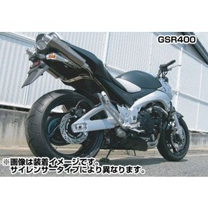 WR's #0-40-BT3407JM チタン ツインテールスリップオンサイレンサー (JMCA認定) GSR400(-'08)【ダブルアールズ】|ridestyle