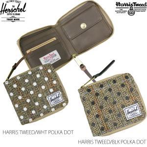 Herschel SUPPLY CO. ハーシェルサプライ ハーチェル WALLET 財布 サイフ ホワイト 白 ブラック 黒 メンズ レディース HARRIS TWEED WALT ZIP BI-FOLD|rifflepage