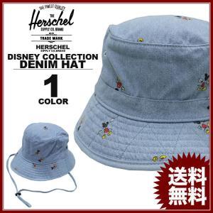 ハーシェル サプライ Herschel SUPPLY CO. DISNEY COLLECTION CREEK DENIM MICKEY BUCKET HAT バケット ハット 帽子 デニム ディズニー ミッキーマウス|rifflepage