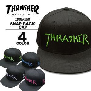 スラッシャー THRASHER 帽子 GONZ LOGO SNAP BACK CAP キャップ メンズ レディース スナップバック 全4色|rifflepage