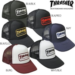 スラッシャー THRASHERMAG キャップ 帽子 ブラック 黒 レッド 赤 ネイビー ゴールド メンズ レディース MAG WAPPEN MESH CAP|rifflepage