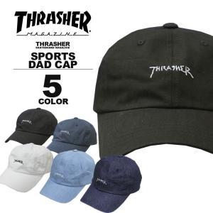 スラッシャー THRASHER キャップ 帽子 コットンキャップ ローキャップ ブラック 黒 ネイビー ホワイト 白 メンズ GONZ MAG SPORTS WASHED CAP