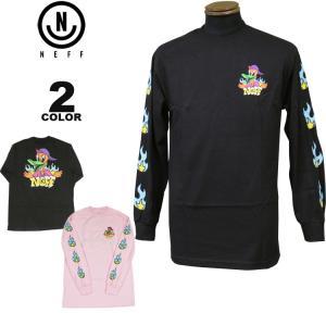 ネフ NEFF Tシャツ ロンT DUCK FLAMES L/S T-SHIRTS 長袖 TEE メンズ レディース 全2色 S-XL|rifflepage