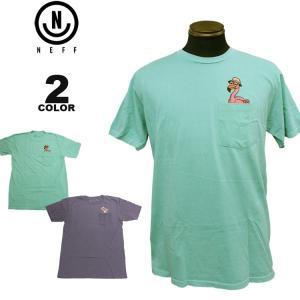 ネフ NEFF Tシャツ PIGMENT PEEK POCKET S/S T-SHIRTS 半袖 TEE メンズ レディース 全2色 S-XL|rifflepage