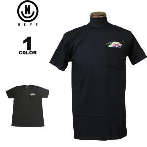 ネフ NEFF Tシャツ PEEK POCKET S/S T-SHIRTS 半袖 TEE メンズ レディース ブラック 黒 S-XL|rifflepage