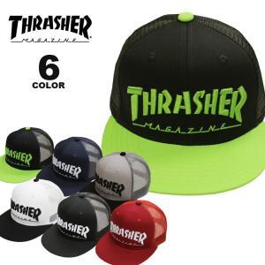 スラッシャー THRASHER 帽子 MAG LOGO emb MESH CAP キャップ メンズ レディース メッシュキャップ 全6色|rifflepage