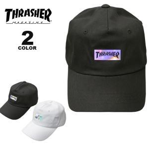 スラッシャー キャップ 帽子 THRASHER HOLOGRAM LOGO DAD CAP メンズ レディース カーブキャップ ローキャップ 全2色|rifflepage