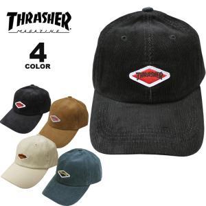 (公式)スラッシャー キャップ 帽子 THRASHER DIAMOND WAPPEN CORDUROY DAD CAP キャップ メンズ レディース ローキャップ 全4色|rifflepage