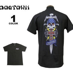 ドッグタウン Tシャツ メタリカ DOGTOWN METALLICA S/S T-SHIRTS バンド ロック 半袖 TEE メンズ レディース ブラック 黒 コラボ S-XL|rifflepage