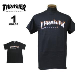 スラッシャー THRASHER Tシャツ INTRO BURNER S/S T-SHIRTS 半袖 TEE メンズ レディース プリント ブラック 黒 S-XL|rifflepage